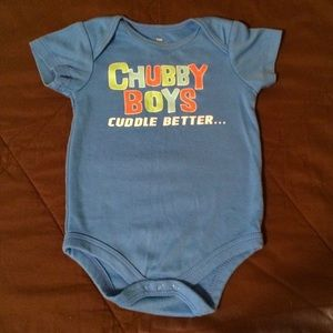 Other - Adorable Blue Short-Sleeved onesie!💙 12 Months!